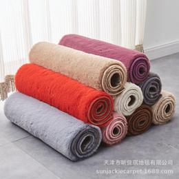 coniglio di stuoia Sconti Comodino tappeto fabbrica all'ingrosso soggiorno camera da letto camera imitazione pelliccia di coniglio tappeto lungo finestra fiocco cuscino tavolino stuoia