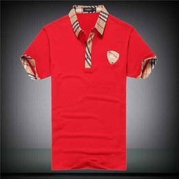 2019 gli uomini della camicia dello squalo 19Summer Designer Luxury Magliette per Uomo Top Brand Shark Mouth Pattern Abbigliamento da uomo Manica corta Tshirt Uomo Top Streetwear Moda Marea gli uomini della camicia dello squalo economici