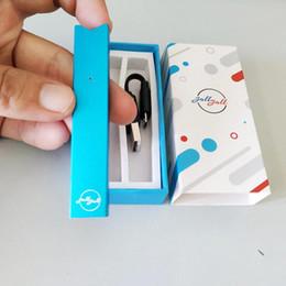 Penne personalizzate online-Prezzo all'ingrosso della fabbrica prezzo basso personalizzato piatto vape penna joll dispositivo di cotone pod 0.7 ml penna vape kit di ricarica in basso USB