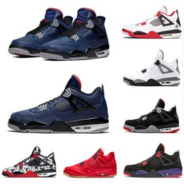 Nike Air Jordan 4 Neuankömmling Bred Pale Citron Tattoo 4 IV 4s Männer Basketballschuhe Pizzeria Singles Day Königshaus Turnschuhe für Männer mit