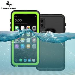 telefoni a prova d'urto d'acqua Sconti Custodia impermeabile per iPhone X Swim Proof Diving Water Shock Copertura della cassa del telefono per iPhone 8 7 6 6s Plus sci copertura posteriore C18112001