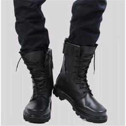 scarpe da caccia militari Sconti Caldo Toe Vendita-Steel in microfibra uomini in sella a caccia Moto militari stivali da uomo casuale che cammina scarpe firmate Deserto Botas Nero