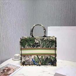 Sacos de compras de seda on-line-Novo saco de compras, Animal Tiger Shopping Bag, impressão de seda de lona e saco de compras de bordados, 2019