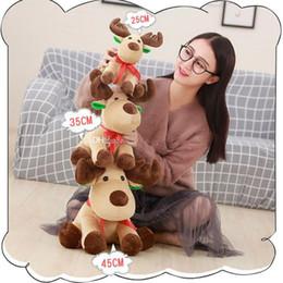b1224 Natale Elk bella farcito Giocattoli Cuscino del fumetto di natale dei cervi dei bambini per Bambini regalo animali Dolls Giocattoli 25cm di trasporto da portachiavi portachiavi fornitori