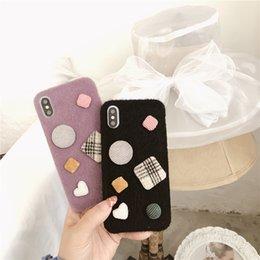 корпус телефона в форме сердца Скидка Любовь в форме сердца геометрические узоры чехлы для телефона для iPhone XR XS MAX 8 7 6 6 S плюс высокое качество новейшего прибытия чехол для мобильного телефона