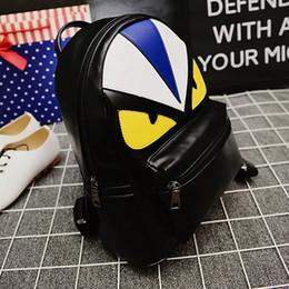 2019 lindas mochilas de diseño para la escuela Designer-Fashion Brand Designer Unique Cute Bird Face Mochila para mujeres y hombres de cuero PU de alta calidad mochilas escolares rebajas lindas mochilas de diseño para la escuela