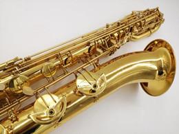 Saxofon de tubo online-Nueva llegada YANAGISAWA B-901 Saxofón Barítono Latón Tubo de oro laca superficie Sax Marca Instrumentos con boquilla envío