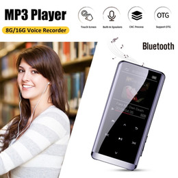 Lettore mp3 otg online-OTG Lettore MP3 Voice Recorder Bluetooth dello schermo 4.2 Touch Mini HIFI 5D di musica MP3 Player 8GB ultra sottile da 1,8 pollici
