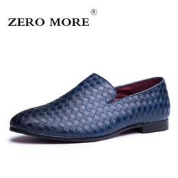 82b41d19ee031 ZERO ALTRE Scarpe da uomo di lusso Casual Taglie grandi Vestito Blu Luxury  Vendita calda Mocassini da uomo britannici Slip On tessuto nero Scarpe da  uomo ...