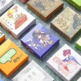 Lindas pegatinas de sellos online-40PCS / box Color Cute Marble Paper Sticker Decoración Decal DIY Album Scrapbooking Seal Sticker Stationery Gift Material Escol