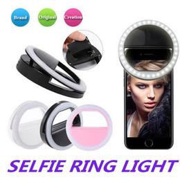 treppiede Sconti Flash universale selfie anello di luce LED ricaricabile della macchina fotografica della clip per IP 7 8 Cellulari X HTC Samsung con scatola al minuto