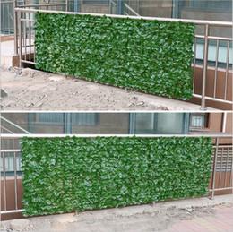recinzione di piante plastiche Sconti 3 metri di siepe di siepi artificiali Privacy Ivy Fence Outdoor Garden Shop Pannelli decorativi in traliccio in plastica