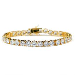 Bling zircone bracciali gioielli di lusso grado di qualità 18 k placcato oro tennis bracciali moda 6mm zircone hip hop bracciali all'ingrosso LBR070 da pizzo guarisce blu fornitori