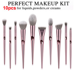 32pcs rosa schwarze make-up pinsel set Rabatt Nasse und wilde Pinsel Set 10pcs Rose Gold Make-up Pinsel Lidschatten Puder Kontur Pinsel Kits Beauty Kosmetik Werkzeuge Pinsel Foundation Brushes