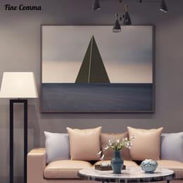Canada Nordique Moderne Abstrait Océan 100% peint À La Main Peinture À L'huile De Grande Taille Toile Art Décor À La Maison Mur Art Photos pour Salon Offre