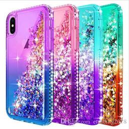 Canada Brand New Pour Iphone XS Cas De Paillettes De Luxe Liquide Quicksand Flottant Circulant Étincelle Brillant Bling Diamant Élégant Clair Mignon Case Pour Iphone Offre
