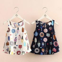 2020 nuevo vestido de verano niña pequeña Nueva muchachas del verano del algodón de lino dona impresión vestido coreano de la princesa vestido para pequeños bebés ropa al por mayor fábrica de estilo de Bohemia nuevo vestido de verano niña pequeña baratos