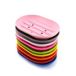 2019 bandejas de sabão de silicone Moda flexíveis pratos silicone sabão anti-derrapante placa sabão bandeja titular cremalheira mouldproof sabão para acessórios de cozinha banheiro desconto bandejas de sabão de silicone