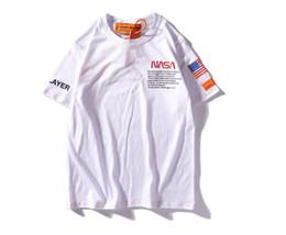 Nasa camisetas on-line-2019 Top Frete grátis NASA amantes camisas homem mulheres casual t-shirt de mangas curtas das mulheres dos homens bordados casaco roupas tees out tee top