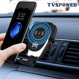 Gravidade Indução Car Carregador sem fio Qi Para XS Max X XR 8 carregamento rápido Air Vent Phone Holder para Samsung Nota 9 S9 S8 de