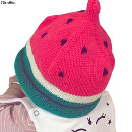0a902681b3c Autumn And Winter Children  s Watermelon Modeling Knitted Baby Boy Girl Hats  Handmade Wool Hat Children Warm Hedge Cap Beanies