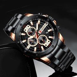 Curren Из Нержавеющей Стали Мужские Часы Мужские Часы Спортивные Часы Мужчины Водонепроницаемые Часы Человек Наручные Часы Relogio Masculino от