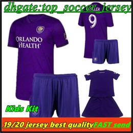 56ad44e3f6368 2019 MLS kids Kit de maillots de football Orlando City NANI Orlando City  Home shirt de football violet 2019   8 J.MENDEZ garçon de Football Uniforme