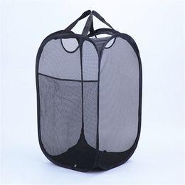 Güçlü Mesh Pop-up Çamaşır Sepet Kaliteli Çamaşır Sepeti Dayanıklı Kolları ile Katı Alt Yüksek Karbon Çelik Çerçeve Depolama için Düz Katla ... nereden