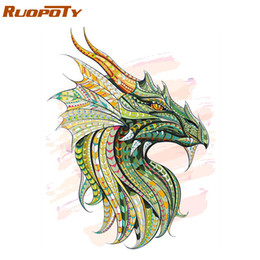kit de números de pintura pintura Rebajas RUOPOTY Frame Dragon DIY Painting By Numbers Animals Modern Wall Art Picture Paint By Numbers Kit Picture Inicio Decoraciones