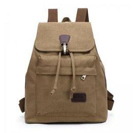 2019 старинные сумки в колледже Женщина шнурок старинные холст рюкзаки мода повседневная колледж Bookbag женский ретро стильный ежедневно путешествия ноутбук рюкзаки сумка LJJT181 дешево старинные сумки в колледже