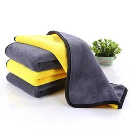 Panni per auto online-Nuovo doppio Side Car Wash asciugamani in microfibra lavaggio tovagliolo di secchezza spessore peluche della fibra di poliestere auto panno di pulizia Auto Care HHA162