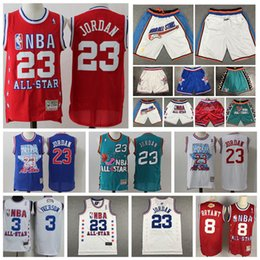 Shorts de basquete de kobe on-line-96th 03 de Vintage All-Star 23 de Michael
