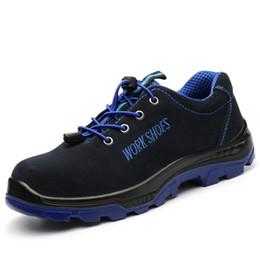 2020 sapatos de segurança casuais Outono Sapatos Casuais Homens Sapatos de Aço de Segurança Do Dedo Do Pé Anti-skid Sapatos de Trabalho Primavera Botas de Segurança Ankle Boots Homens Plana zapatos de hombre desconto sapatos de segurança casuais