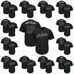 Maillot ramirez online-Cleveland 12 Francisco Lindor 2019 Jugadores Jerseys de fin de semana Jose Ramirez ENRIQUITO Corey Kluber KLUBES Jason Kipnis Dirtbag Indians jerseys