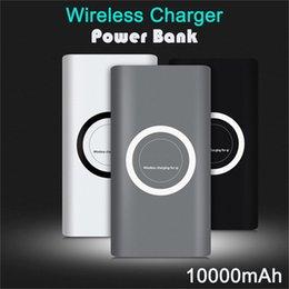 banco de poder emoji Rebajas Adaptador de carga rápida Qi Wireless cargador de batería 10000mAh Banco de potencia para Samsung Nota S8 iPhone iPhone 8 X XR XS con Box