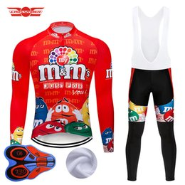 bicycle winter Coupons - 2019 Winter Cycling Jersey Set MTB Cartoon Bike Clothing Mens Ropa Ciclismo Thermal Fleece Bicycle Clothes Long Cycling Wear