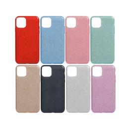 Capas de telefone celular brilhantes on-line-3 em 1 Casos Bling Para Iphone 11 Pro Celular Max Glitter Brilhante Capas Frete grátis DHL