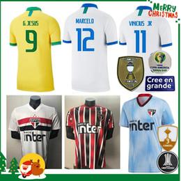 2019 2020 Brasil Sao Paulo fútbol local camisetas de calidad 19 20 Copa América Brasil hombre adulto mujer COUTINHO VINICIUS camisetas de fútbol desde fabricantes