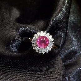 натуральный белый сапфир Скидка Fine Jewelry Gfco Real 18K Белое Золото 100% натуральный неотапливаемый розовый сапфир 0.8 драгоценные камни 18k Сапфир бриллианты женские обручальные кольца