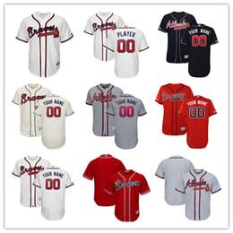 camisola de basebol de flanela Desconto Personalizado Atlanta Braves Homens Ronald Acuña Jr. Freddie Freeman Dale Murphy malha Batting Practice Swanson Baseball Jersey