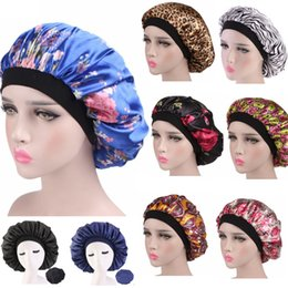 hair dome Promo Codes - 15 COLORS 2019 new fashion Luxury Wide Band Satin Bonnet Cap comfortable night sleep hat hair loss cap women hat cap turbante