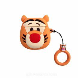 3d-тигр Скидка 3D мультфильм Тигр наушники крышка Мягкий силиконовый чехол для Airpods чехол для зарядки Беспроводной Bluetooth анти-потерянный защитить наушники оболочки