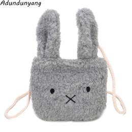 Bolso al por mayor barato de la felpa de la manera del bolso de la princesa de la historieta del paquete del bolso de los niños de las orejas de conejo desde fabricantes