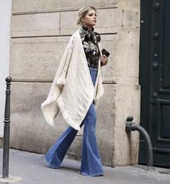 2020 lunghi jeans larghi gambe Campana dei jeans bottom donne pantaloni lunghi a zampa blu di modo i pantaloni elastici sexy pantaloni larghi del piedino corno tratto epoca jean nero lunghi jeans larghi gambe economici