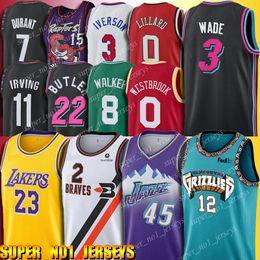kawhi leonard jersey Desconto 12 Ja Morant jersey Donovan 45 Mitchell Kawhi 2 Leonard Jerseys Dwyane Wade 3 LeBron James 23 walker Carter Westbrook Durant Irving Iverson