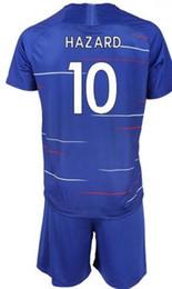 conjuntos cortos de fútbol Rebajas Customized 18-19 home blue 22 Willian Soccer Jersey Con short, mens barato 11 Pedro 3 MARCOS A. 29 MORATA 10 Hazard 9 PULISIC para hombres