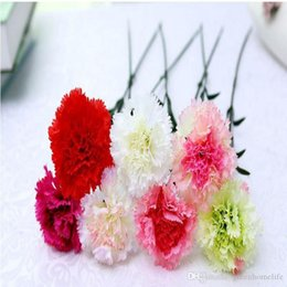 großhandel künstliche blumen nelken Rabatt Großhandel Künstliche Blumen Silk Fower Nelken Diy Handmade Garland Material Dekorative Blume Kopfschmuck Muttertagsgeschenk