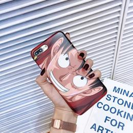 Casos bonitos do telefone on-line-Yunrt japão dos desenhos animados one piece phone case para iphone 6 6 s 7 8 além de xxs max xr super legal bonito animação suave silicone imd ...
