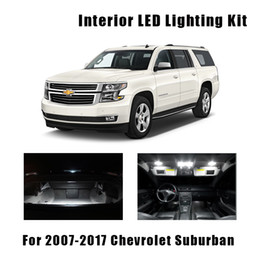 2020 lâmpada de teto 14PCS LED White Light Teto Lâmpadas Interior Kit Fit For 2007-2015 2016 2017 Suburban Tahoe Mapa da matrícula Lâmpada lâmpada de teto barato
