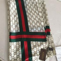 Marca de moda bufanda de seda toalla de playa de verano suave bufanda de seda ligera marca clásica impresa marca chal 180x90 cm desde fabricantes